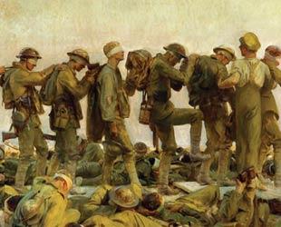 चित्र: गैस्ड, चित्रकार: जॉन सिंगर सार्जेंट, सन:1918