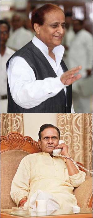सपा नेता आजम खान और कांग्रेस नेता बेनी प्रसाद वर्मा(नीचे) तो आयोग की चेतावनियों की जरा भी परवाह नहीं करते दिखते.