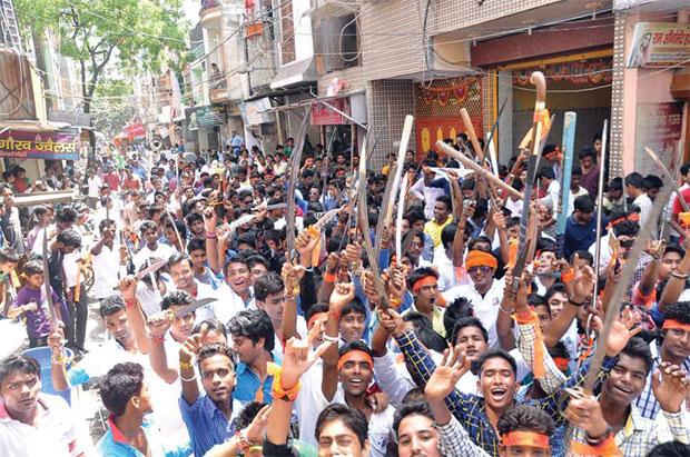 अधर्म का धर्म:  त्रिलोकपुरी में अगस्त के महीने में हुई विहिप की एक रैली