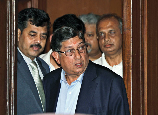 राहत: मुदगल समिति ने आईसीसी के मुखिया एन श्रीनिवासन को मैच फीक्सिंग के आरोपों में दोषी नहीं पाया, फोटो: एपी