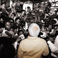 Lalu Prasad yadav interacting with media.Photo/Prashant Ravi