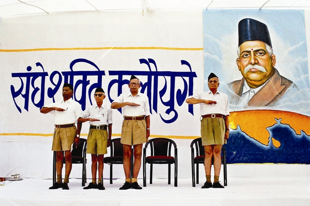 RSS Camps. Photo by Prakash Hatvalne/Tehelka