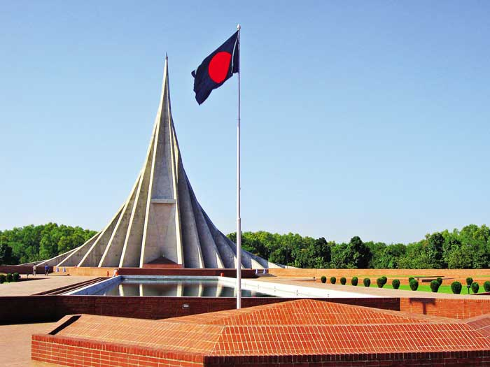 बांग्लादेश नेशनल मेमोरियल 1971 में बांग्लादेश मुक्ति युद्ध में मारे गए शहीदों की याद में ढाका में मेमोरियल बना है