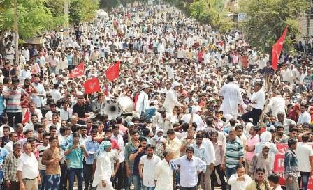राजस्थान में किसानों की जीत आंदोलन में किसानों के साथ मज़दूर, व्यापारी और छात्र भी शामिल